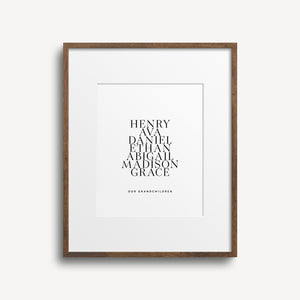 Family Names Custom Print