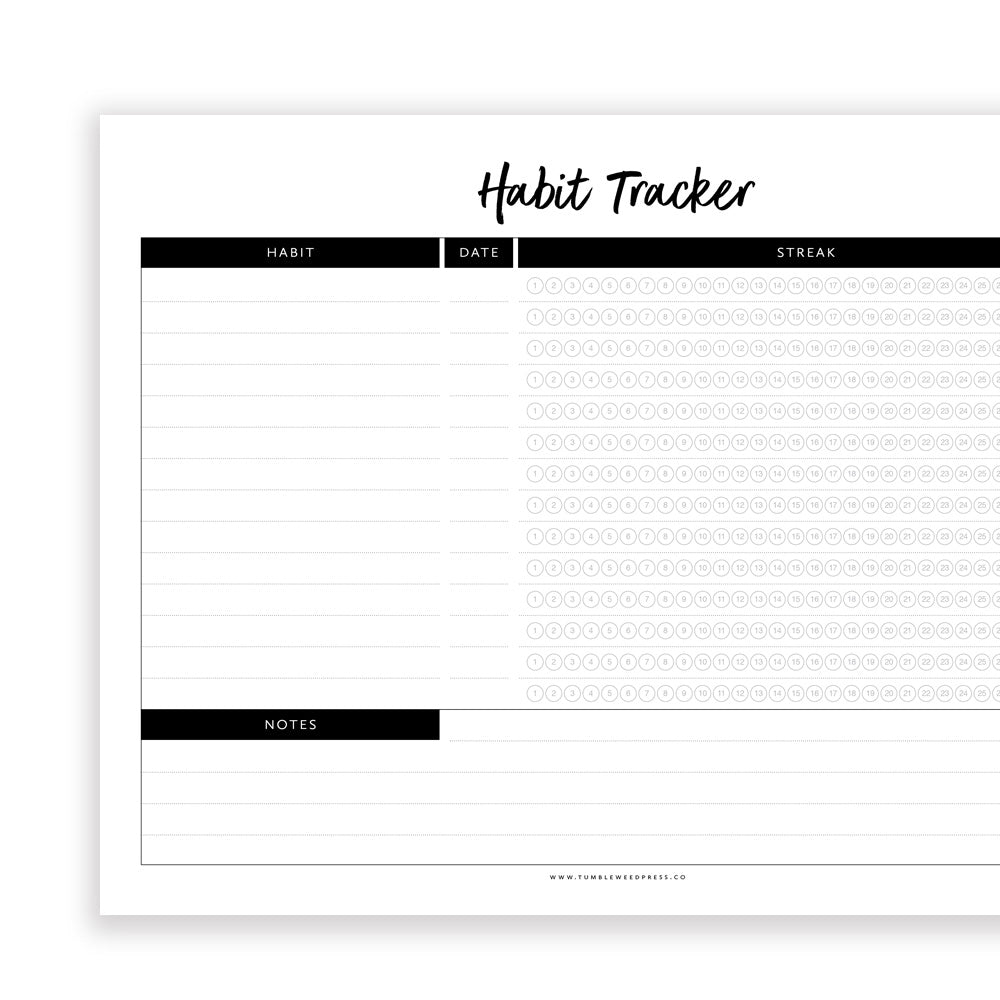photo about Habit Tracker Printable called Pattern Tracker