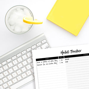 Habit Tracker Printable by Tumbleweed Press