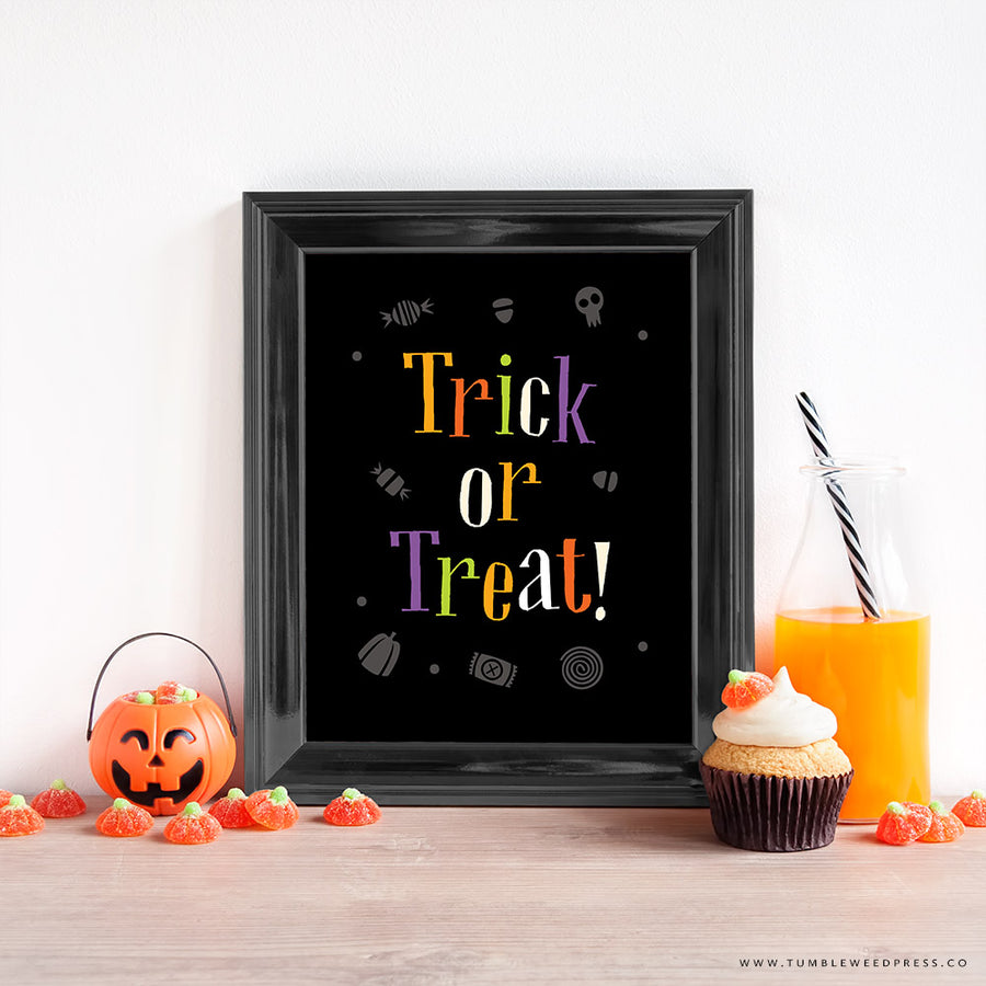 Trick or Treat Halloween Print