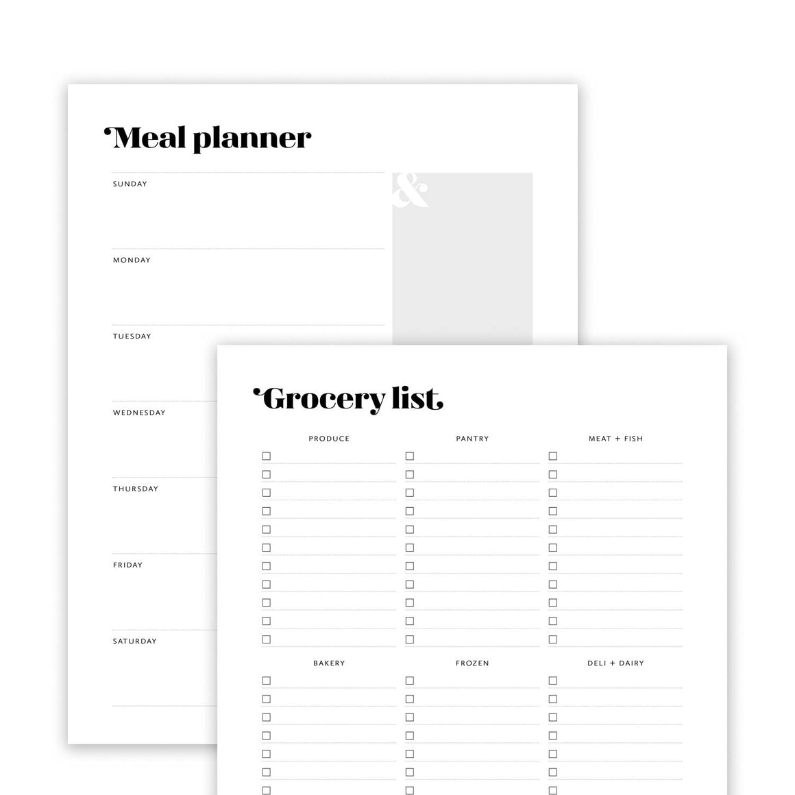 Meal Planner and Grocery List: Harlow