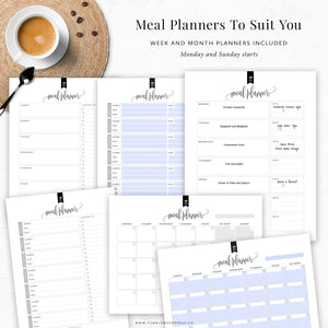 Meal Planning Binder Kit: Kelly