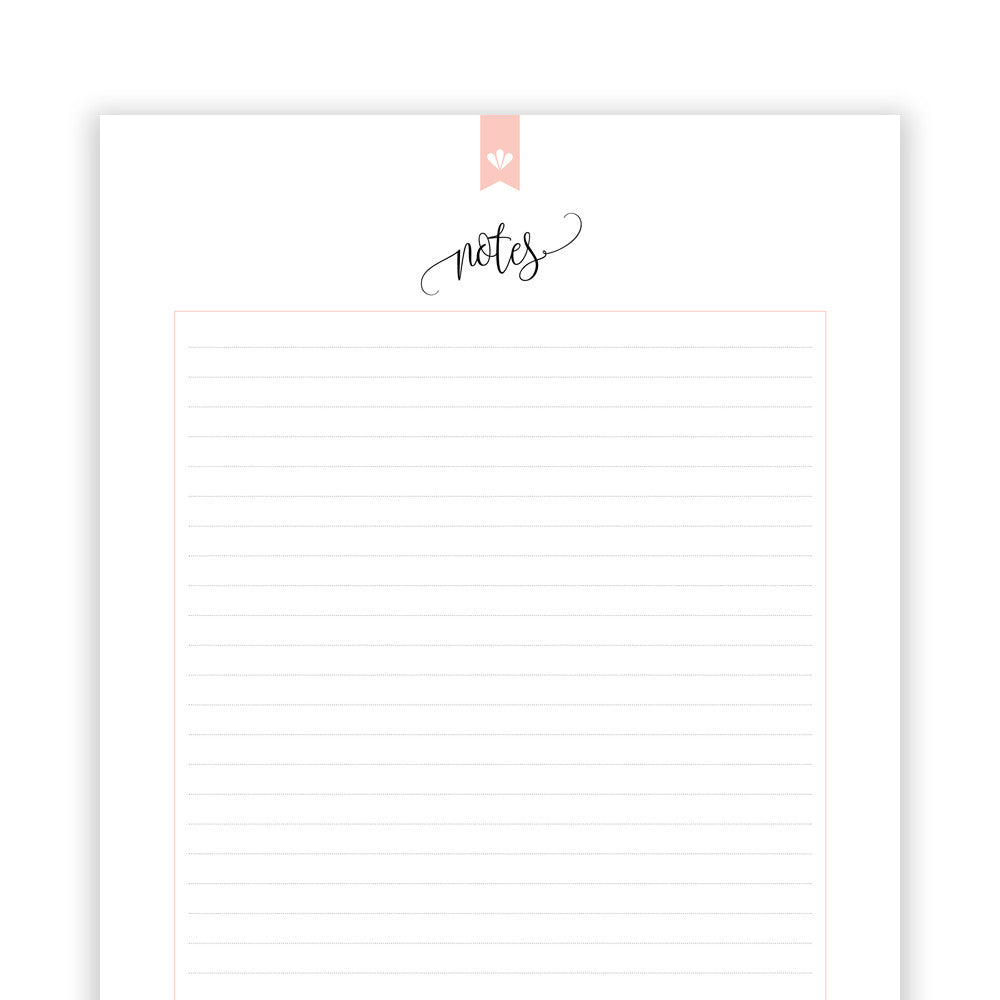 Notes on Lined Paper You Can Print In High Quality