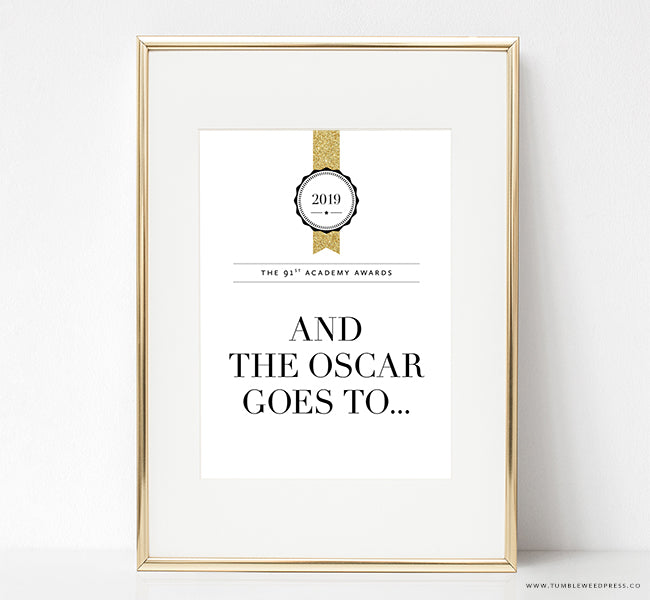 Oscars Party Print
