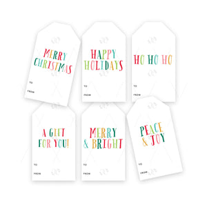 Christmas Gift Tags: Bright