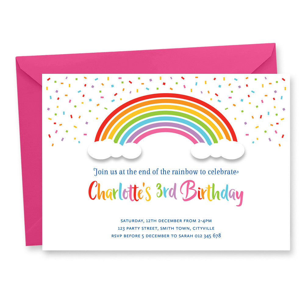 Birthday Invitation: Rainbow