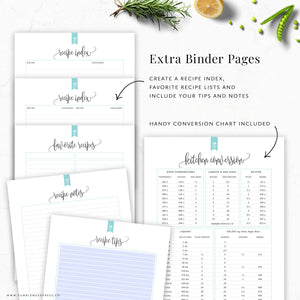 Recipe Binder Kit: Hepburn
