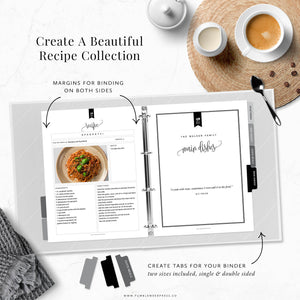 Recipe Binder Kit: Kelly