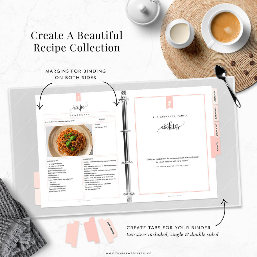 Recipe Binder Kit: Taylor