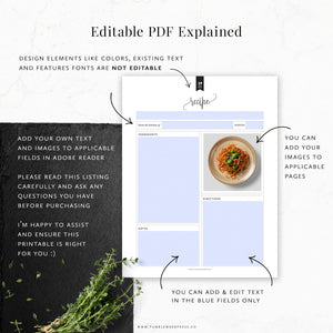 Editable Printables by Tumbleweed Press