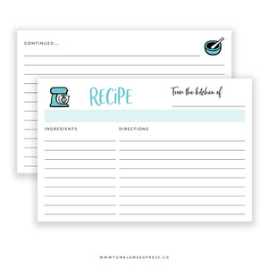 Recipe Cards: Farmhouse