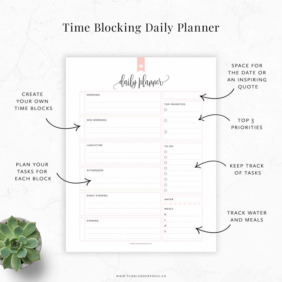 Time Blocking Planner 01: Taylor