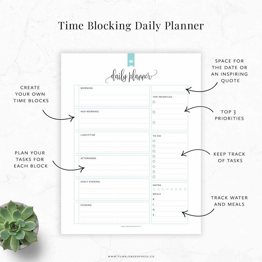 Time Blocking Planner 01: Hepburn
