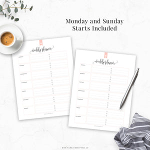 Weekly Planner 02: Taylor