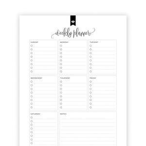 Weekly Planner 01: Kelly