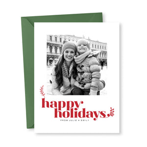 Christmas Card: Happy Holidays