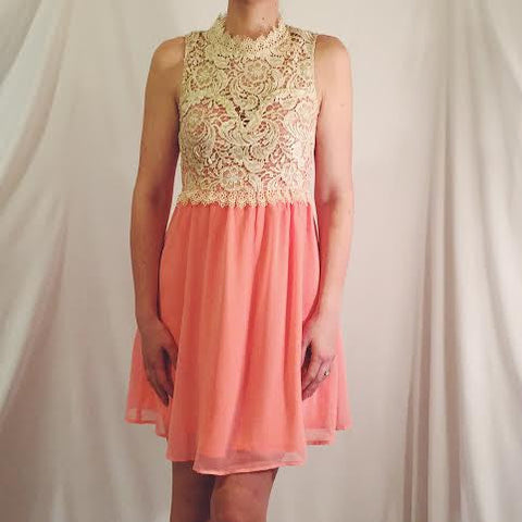 Lace and Coral Dress