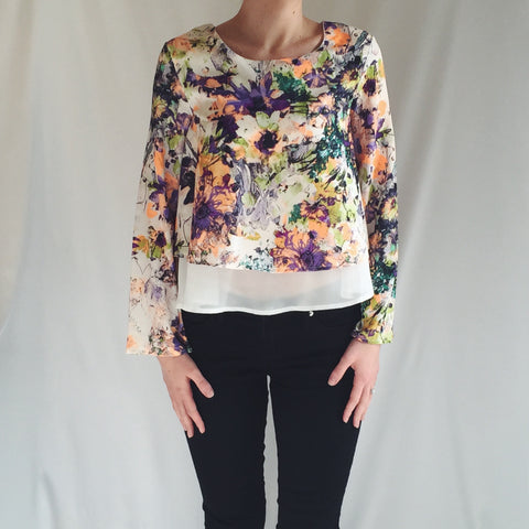 Double Layer Flower Top