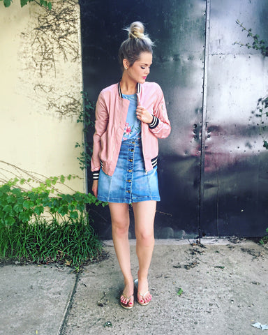 Dusty Rose Bomber Jacket