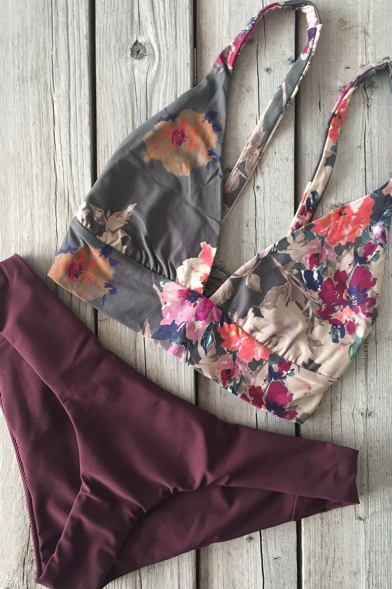 Boys and Arrows Fillis Top Darling and Yaya Bottom Burgundy