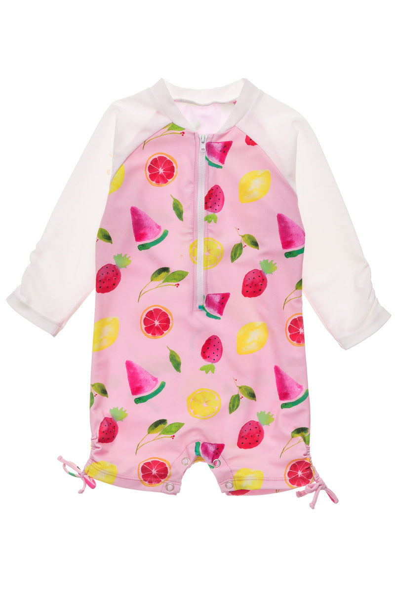 Fruit Fiesta Long Sleeve Sunsuit