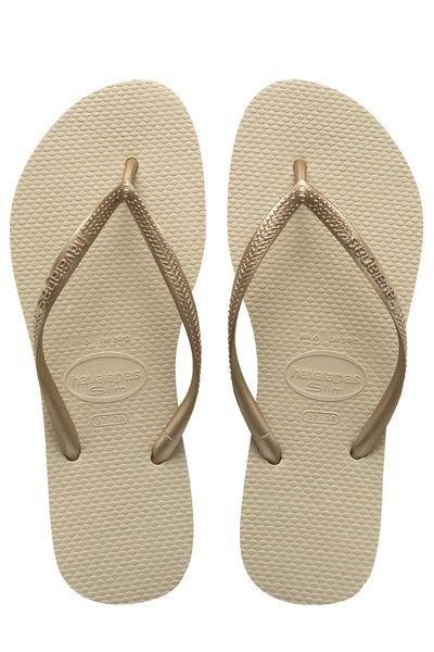 Havaianas Women's Slim Sandals Sand Grey/Light Golden