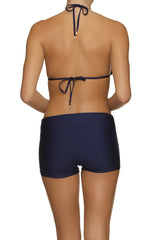 Helen Jon Fold-Over Short Navy
