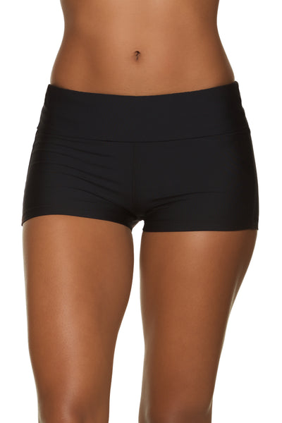 Helen Jon Fold-Over Short Black