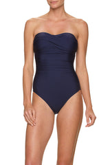 Helen Jon Twist Bandeau One-Piece Navy