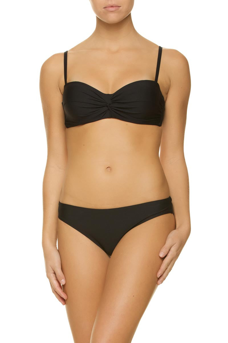 Helen Jon Twist Underwire Top and Classic Hipster Bottom Black