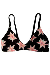 Kaileigh Swimwear Montauk Top Lilies/Midnight