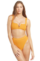 L*Space Pointelle Rib Frenchi Bikini Bottom Mandarin