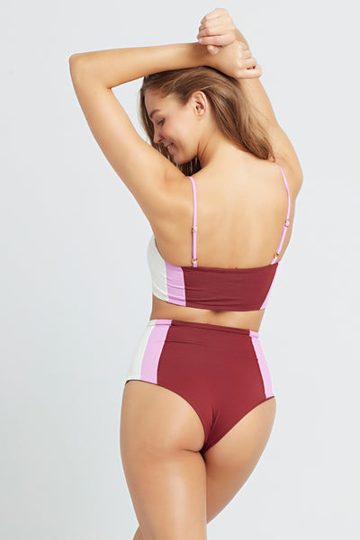 L*Space Portia Girl Bottom Sangria/Rosebud/Cream