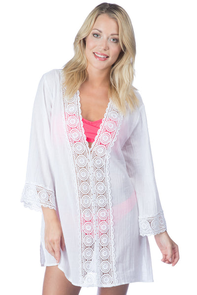 La Blanca ISLAND FARE V-NECK TUNIC White