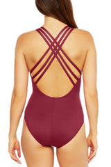 La Blanca ISLAND GODDESS MULTI STRAP CROSS-BACK MIO Wine