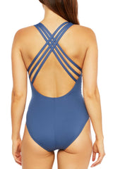 La Blanca ISLAND GODDESS MULTI STRAP CROSS-BACK MIO Blue Moon