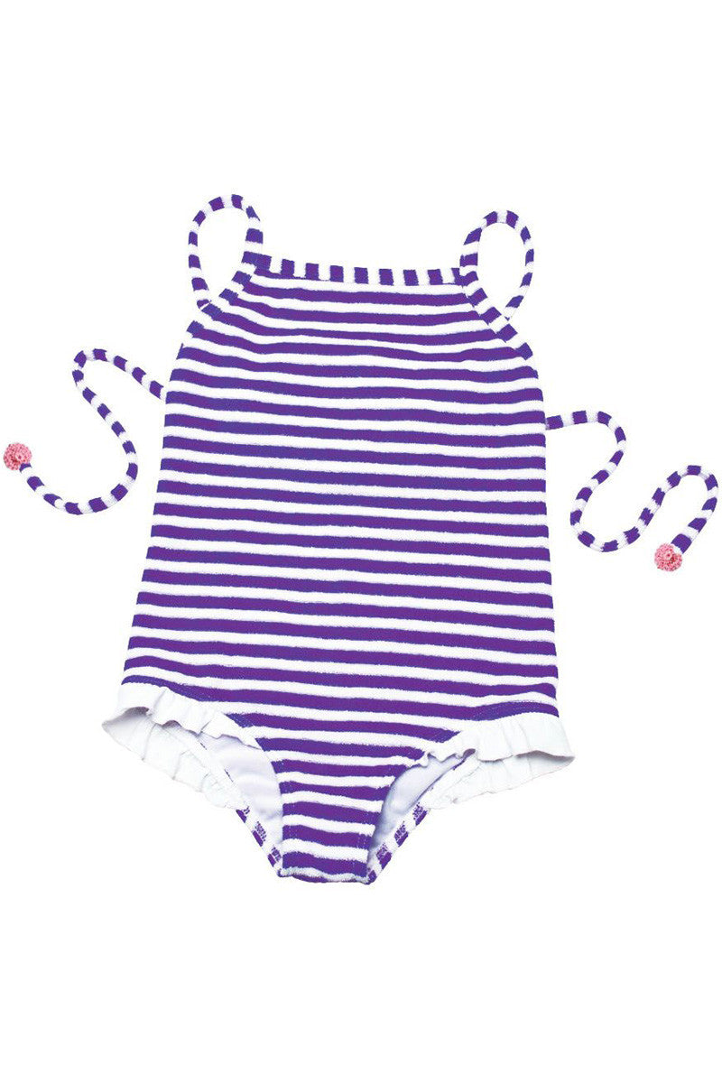Terry Ruffle One Piece Purple