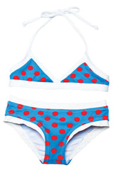 Lilo Tati Sporty Binded Bikini Blue/Red Dots