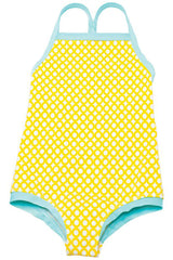 Lilo Tati Girls Sporty Binded One-Piece Yellow/Basket
