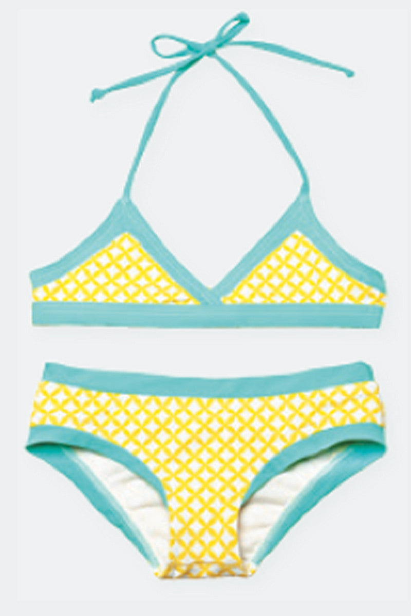 Lilo Tati Sporty Binded Bikini Yellow Basket