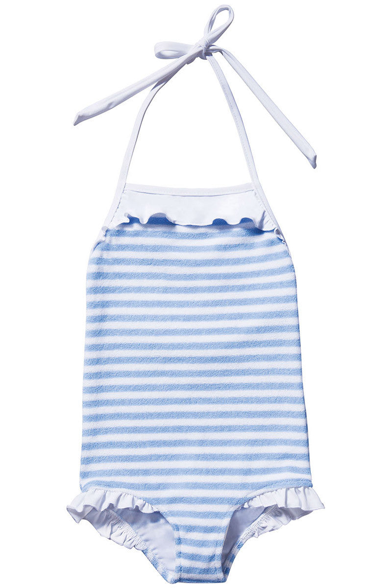 Terry Stripe One-Piece Blue
