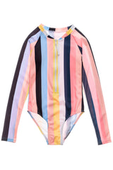 Snapper Rock Opti Stripe Long Sleeve Surf Suit