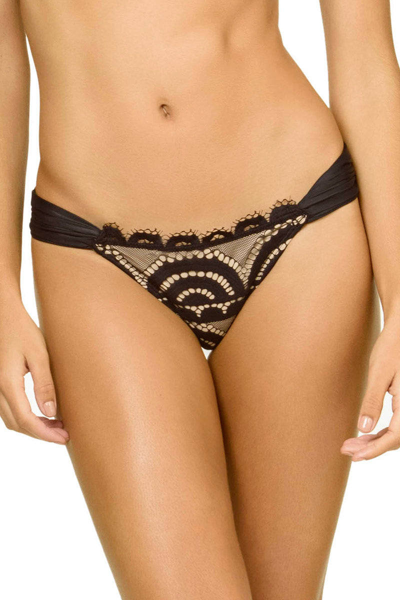 PilyQ Lace Fanned Bottom Midnight