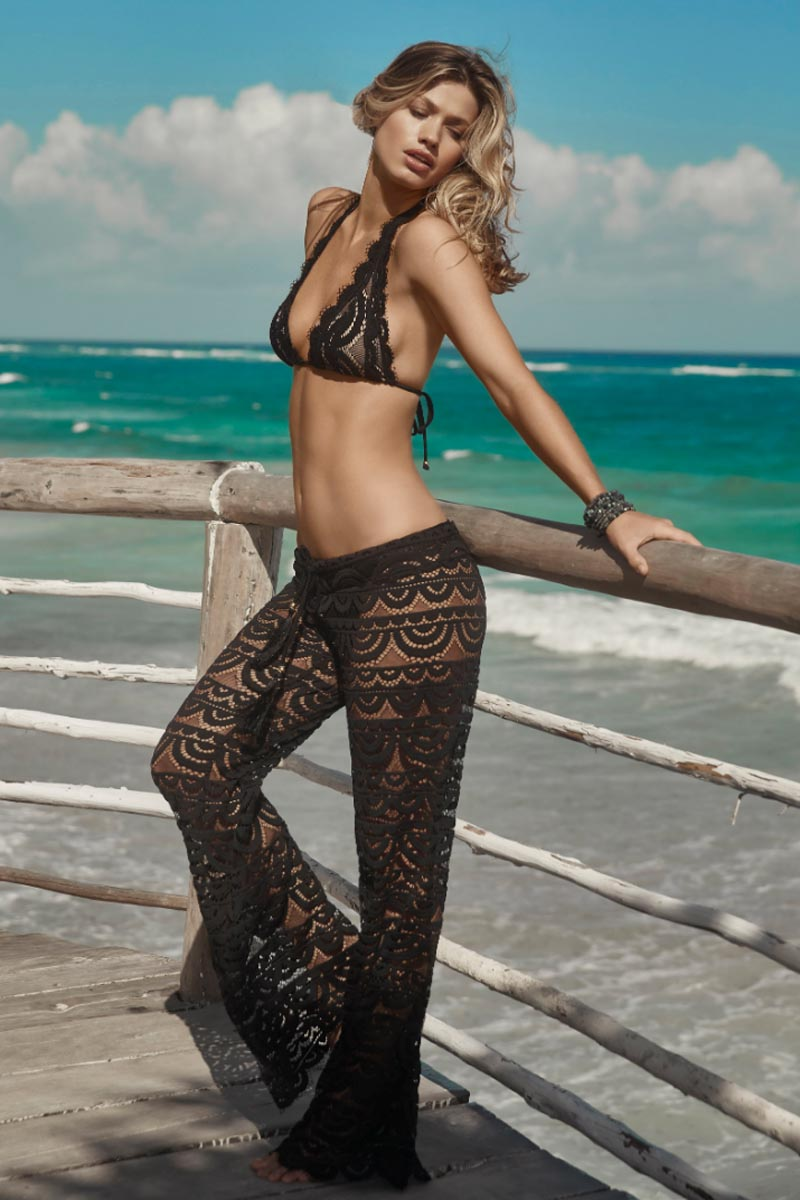 PilyQ Lace Pants Midnight