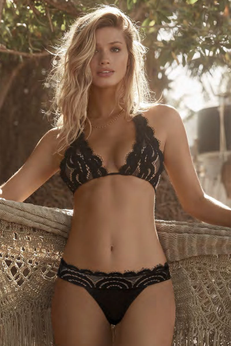 Pilyq Lace Banded Bottom Midnight