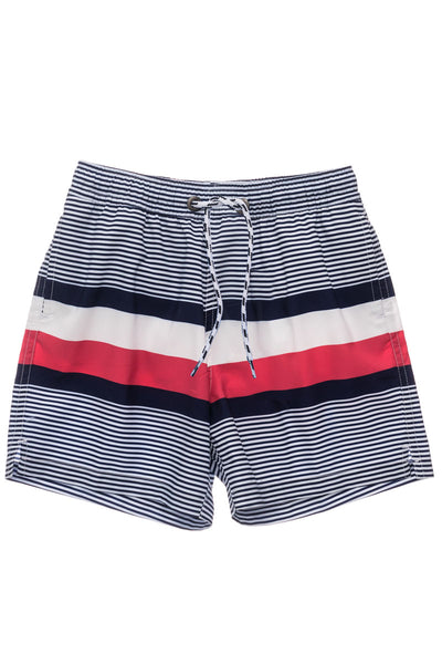 Snapper Rock Navy Contrast Stripe Volley Board Short