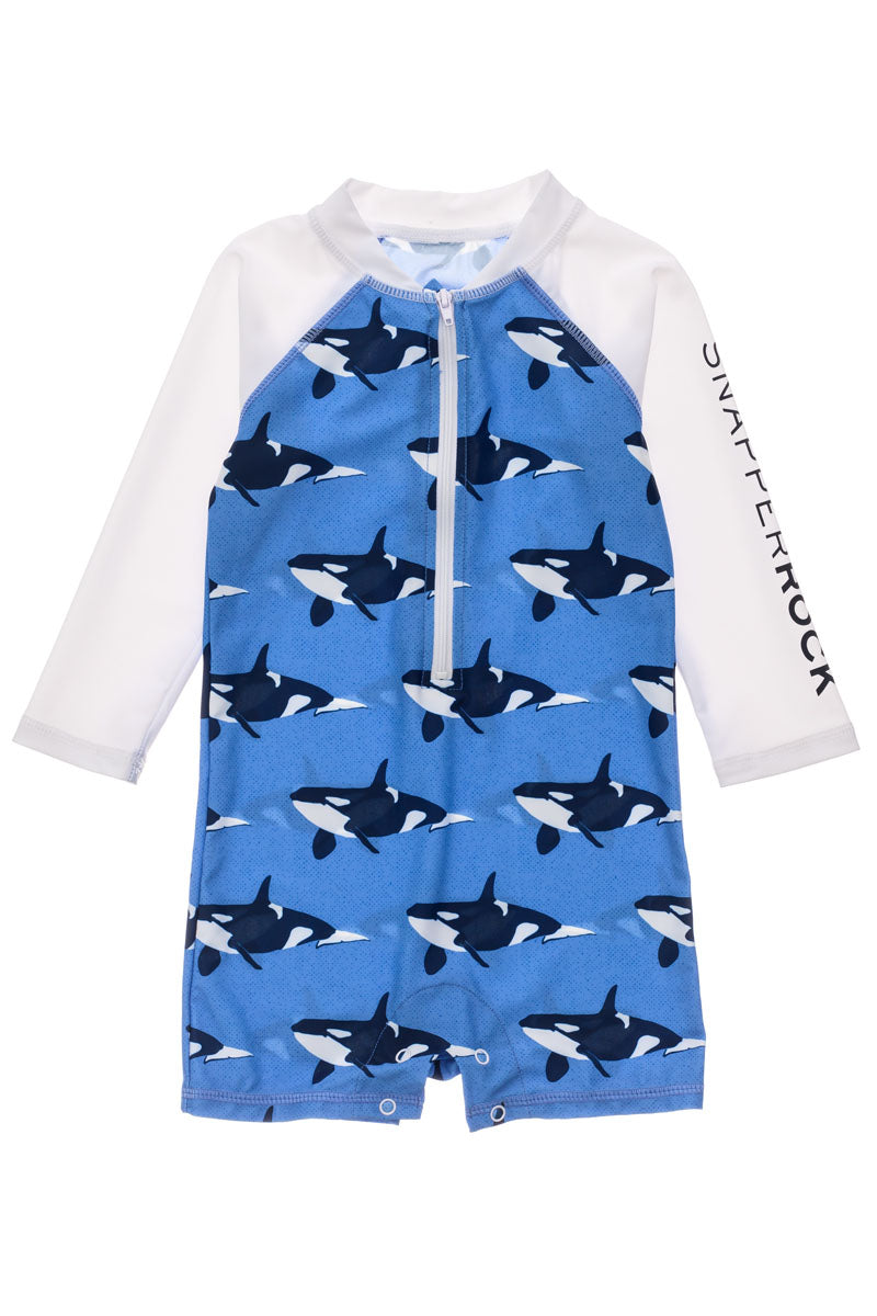 Snapper Rock Orca Ocean Long Sleeve Sunsuit