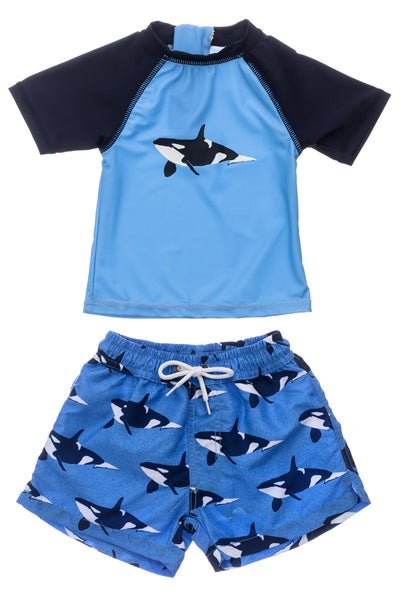 Snapper Rock Orca Ocean Baby Rash Set
