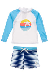 Snapper Rock Sunset Stripe Rash Set