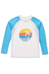 Snapper Rock Sunset Stripe LS Rash Top
